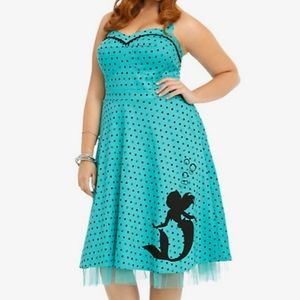 Disney Ariel pin up style dress polka dot size 14